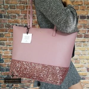 Kate spade LARGE Penny Greta Court Tote PINK NEW